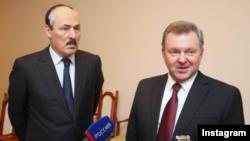 Глава Дагестана Рамазан Абдулитипов и полномочный представитель президента РФ в СКФО Олег Белавенцев