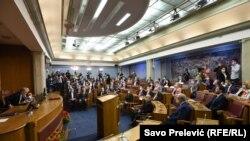 Подгорица- конститутивна седница на црногорскиот парламент, 23.09.2020