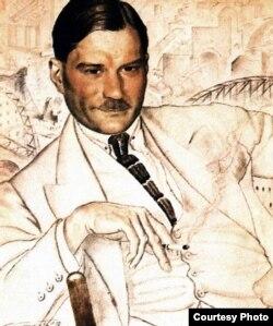 Евгений Замятин (портрет Б.Кустодиева)