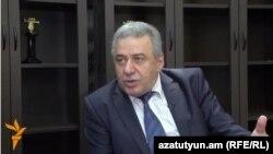 Armenia -- Former Defense Minister Vagharshak Harutiunian, Yerevan, 14Jun2016