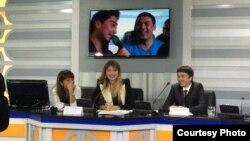 Uzbekistan -- A press conference with Gulnara Karimova, undated