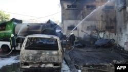 Սիրիա - Դամասկոսի թաղամասերից մեկը այդտեղ տեղի ունեցած պայթյունից հետո, արխիվ