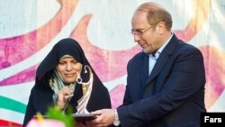 محمدباقر قالیباف و همسرش زهرا سادات مشیر