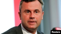 Кандидат в президенти Австрії від Партії Свободи Норберт Хофер