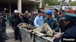 Armenia -- A big accident took place in Yerevan with injured people, Yerevan, 25Oct2012