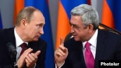 Erm'nistan - Putin və Sarkisian. 2 dekabr 2013