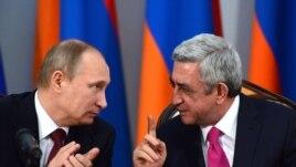 Президенты России и Армении, Владимир Путин и Серж Саргсян (Архивная фотография)