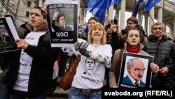 Беларусь оппозициясының шеру. Минск, 25 наурыз 2012 жыл. (Көрнекі сурет)