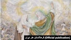 تابلوی غدر خم، اثر محمود فرشچیان