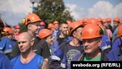 Radnici u štrajku u hemijskom postrojenju Hrodna azot.