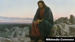 "Картина Ивана Крамского ""Христос в пустыне"", 1872"