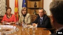 Архивска фотографија: Координативна средба кај претседателот на Собранието на Република Македонија, Трајко Вељаноски