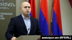 Заместитель председателя правящей Республиканской партии Армении Армен Ашотян, Ереван, 14 мая 2017 г.