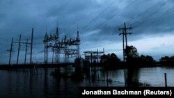 Підтоплена внаслідок бурі силова підстанція у штаті Луїзіана, 29 серпня 2017 року