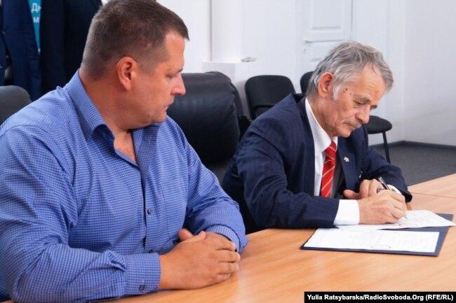 Підписання документів на передання будівлі мерії, Дніпро, 11 вересня 2018 року