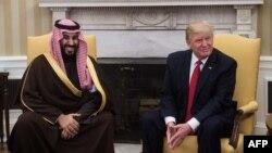 U.S. President Donald Trump and Saudi Deputy Crown Prince Muhammad bin Salman (file photo)
