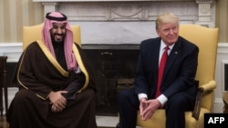 Saudijskiprestolonasljednik Mohamed bin Salman i američki predsjednik Donald Tramp.