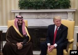 Donald Trump i princ Mohamed u Bijeloj kući u Vašingtonu 14. marta 2017.