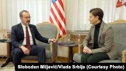 Predsednica Vlade Republike Srbije Ana Brnabić i novoimenovani ambasador Sjedinjenih Američkih Država Entoni Godfri