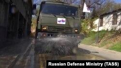 В случае необходимости российские военные, по просьбе абхазского правительства, могут помочь в дезинфекции объектов