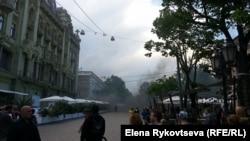 Перші зіткнення на Дерибасівській, 2 травня 2014 року