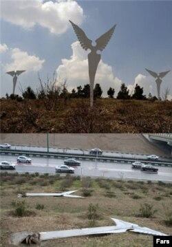 مجسمههای پابریده فرشته در تهران