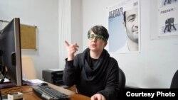 İndiqo jurnalınınr redaktoru Nino Japiashvili.