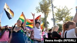 PHOTO GALLERY: Belgrade Holds First Gay Pride Parade In Four Years