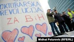 Sarajevo - Mirno okupljanje nezadovoljnih građana