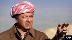 Iraqi Kurdish leader Masud Barzani (file photo)
