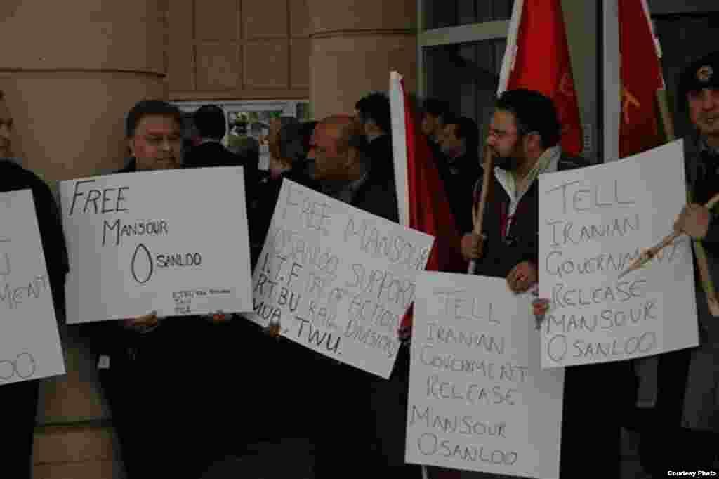 فعالان کارگری معترض به بازداشت اسانلو در استرالیا