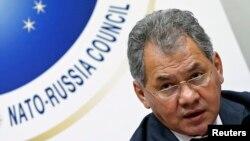Архівне фото: Сергій Шойгу на засіданні Ради НАТО – Росія, Брюссель, 23 жовтня 2013 року