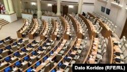 Վրաստանի խորհրդարանի նիստերի դահլիճը, Թբիլիսի, 11-ը դեկտեմբերի, 2020թ.