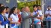 Vladimir Putin gənclər forumunun açılışında, 15 avqust, 2018-ci il