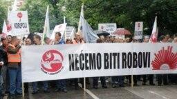 Protest radnika u organizaciji SSS BiH, Sarajevo, fotoarhiv