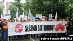 Veliki radnički protest u Sarajevu