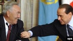 Қазақстан президенті Нұрсұлтан Назарбаев пен Италияның экс-премьері Сильвио Берлускони