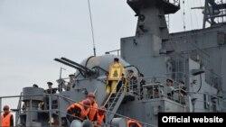 Российский десантный корабль, архивное фото