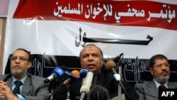 Muslim Brotherhood representatives hold a press conference after talks with the government in Cairo last week. Has the West underestimated their power and aims?