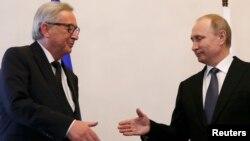 Presidenti i Komisionit Evropian, Juncker në takim me presidentin rus, Vladimir Putin