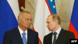Ислом Каримов ва Владимир Путин.