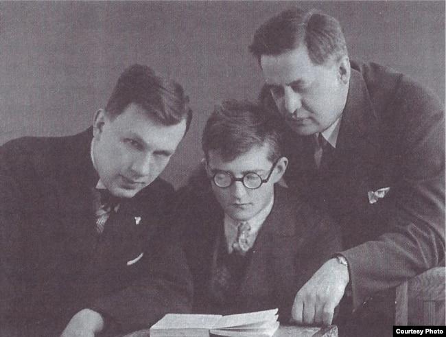 Дмитрий Шостакович и музыковед Иван Соллертинский, 1932 год