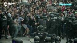 Разгон протестов в Барселоне