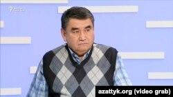 """Эрик Асаналиев """"Азаттыктын"""" Бишкек студиясында, 6-октябрь, 2017-жыл."""
