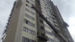 Yanan binada təmir yekunlaşır