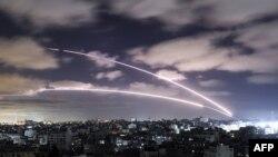 Запуск ракет по Израилю.