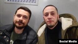 Илья Яшин и Руслан Нуртдинов в автозаке