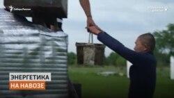 Житель Бурятии получает электроэнергию из навоза