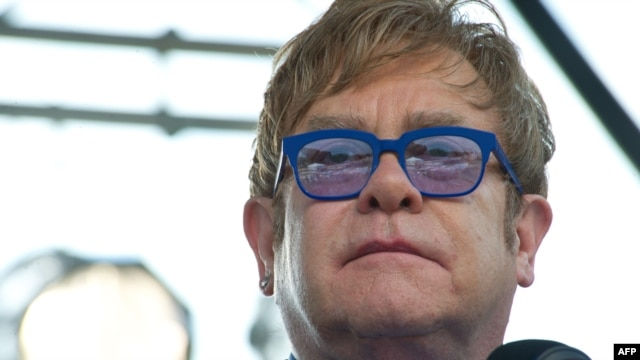 British pop star Elton John