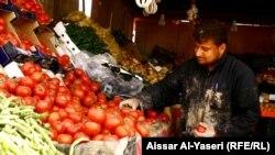 سوق للخضار في النجف